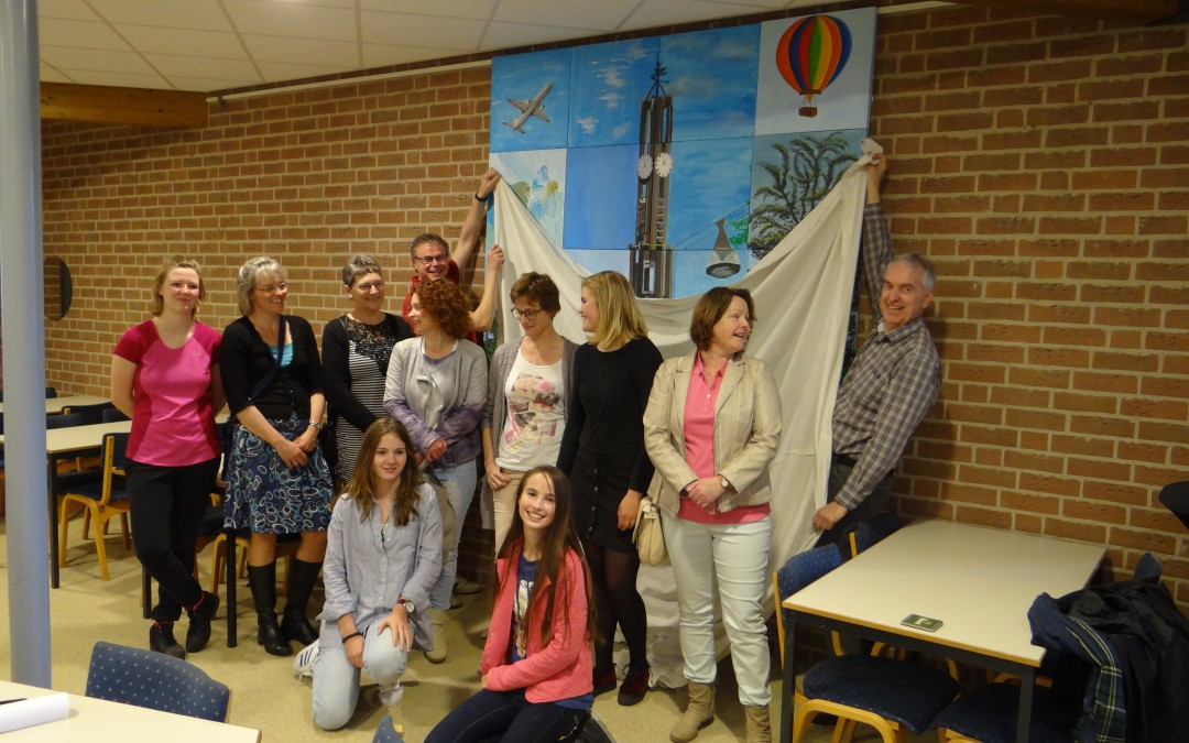 Onthulling Wanddecoratie Open Haven